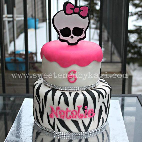 Monster High Cake Topper by SweetenedbyKagi on Etsy, $19.95
