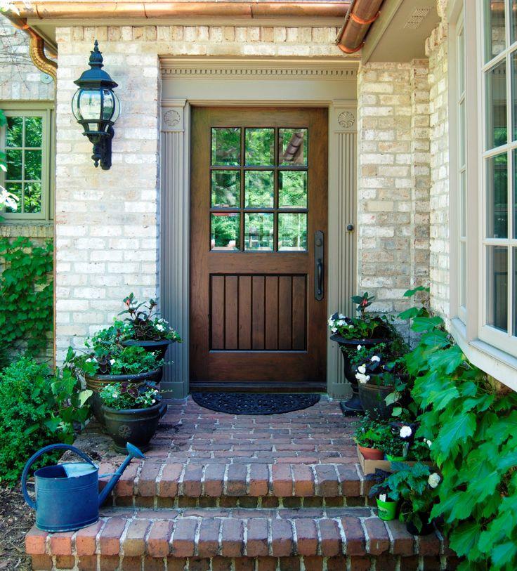 Walnut True Divided Lite Exterior Door