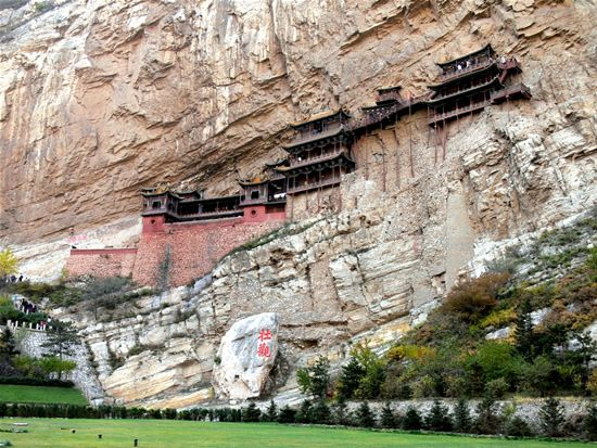 The Hanging Temple of Hengshan, China.