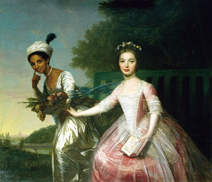 Lady Elizabeth Murray and Dido Belle, once attributed to Zoffany the art work that inspired the movie Belle
