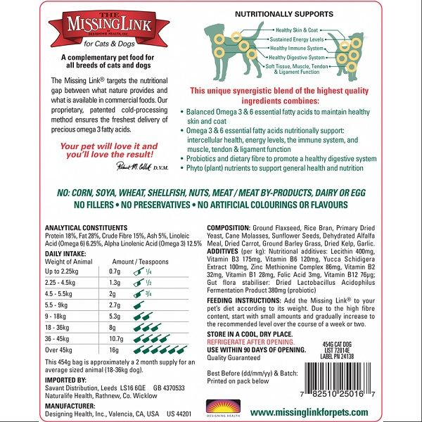 The Missing Link Original Blend For Cats And Dogs Back Dog Cat Dogs Cats