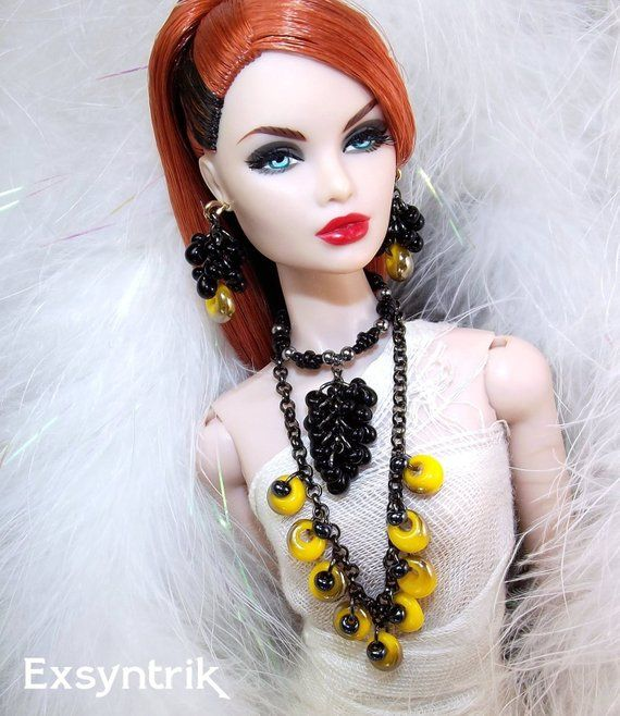 earrings Fashion Royalty Poppy Parker,Barbie jewelry for doll Integrity Toys