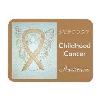 Childhood Cancer Awareness Angel Custom Magnet