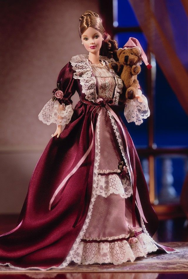 Victorian Barbie Doll with Cedric Bear - 2000 World Culture Dolls - Barbie Collector