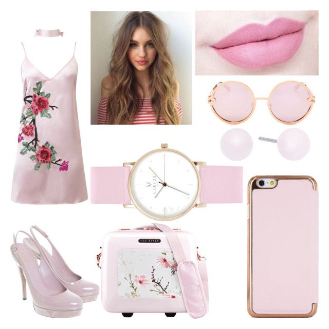 """Bubblegum Bitxh #2"" by raineingboties on Polyvore featuring WithChic, Gucci, Ted Baker, Anastasia Beverly Hills, Michael Kors, Laruze and Quay"