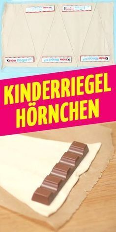 Want to try the best cooking recipe in the world? Kinder Riegel Croissant!