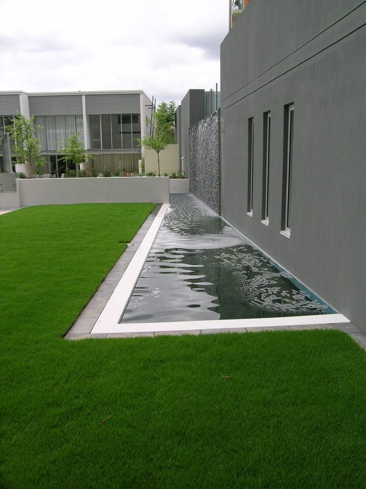 Commercial landscape architecture minimalist modern geometric style wet wall formla - Gardening for small spaces minimalist ...