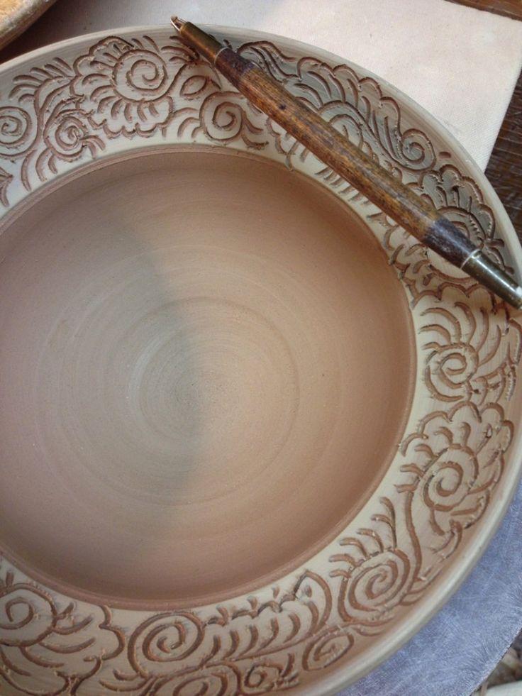 sgrafftio bowl by firewhenreadypottery