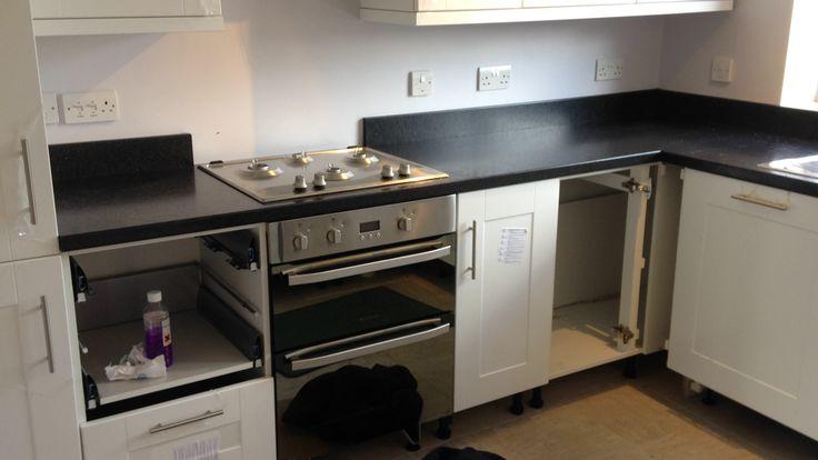 black laminate with matching upstands #kitchenworktops