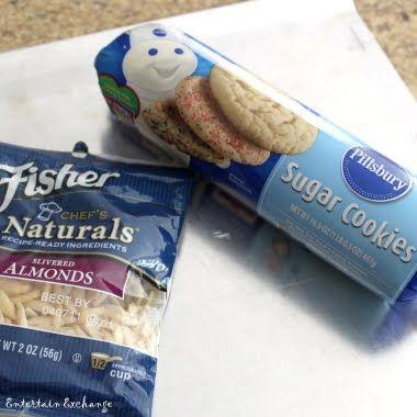 Pillsbury cookie dough sand dollar cookies!  Great Idea!