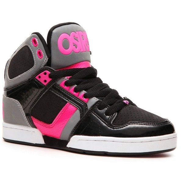 Osiris NYC 83 Slim Skate Sneaker - Womens ($60) ❤ liked on Polyvore featuring shoes, sneakers, styles under $60, osiris shoes, slim shoes, osiris footwear and osiris sneakers