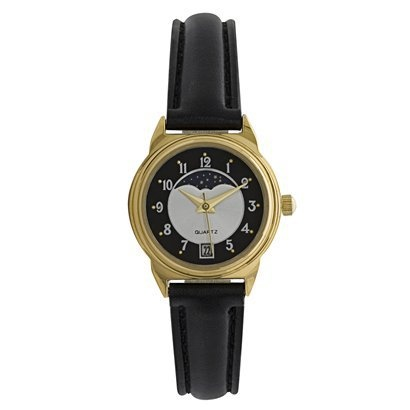 Faux leather strap Moon Dial Round Gold & Black $9.99 Target