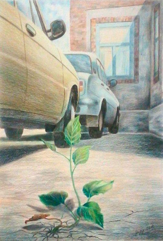 Василий Россин (Vasily Rossin), Сила жизниThe power of life2010 г.Бумага, карандашPencil, paper25 х 37