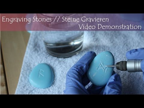 Engraving Stones // Steine Gravieren - Video Demonstration - YouTube