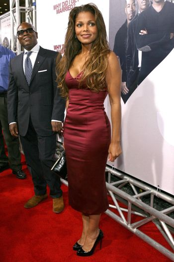 """Jackson wore classic round toe pumps for her premiere of Tyler Perry's """"Why Did I Get Married."""""""