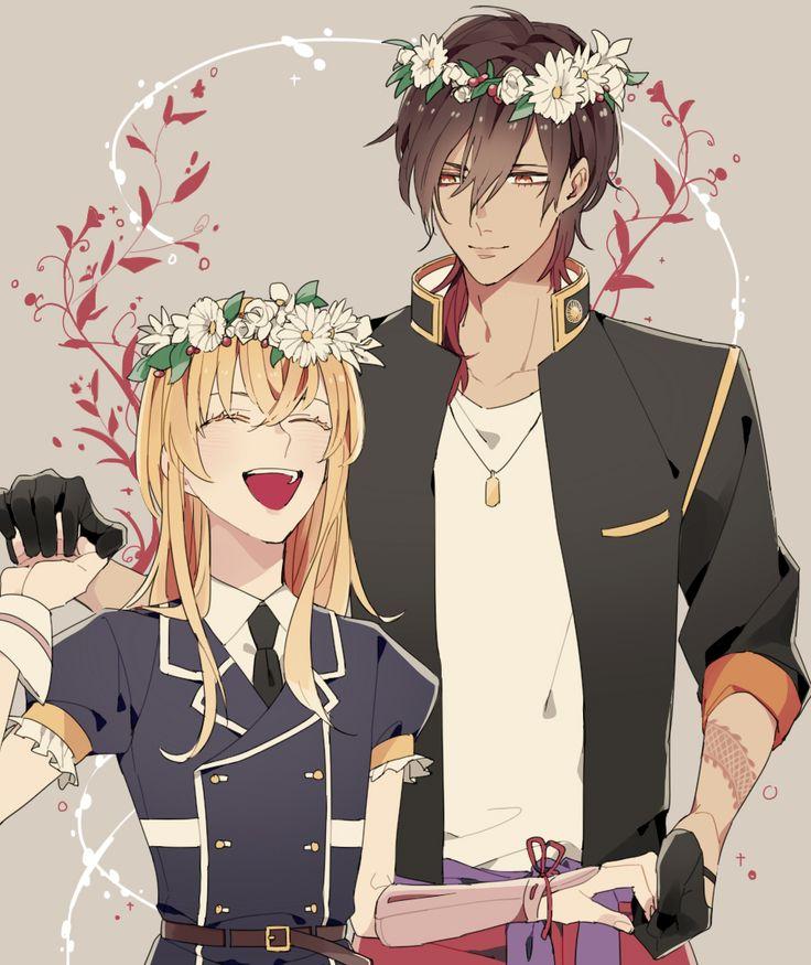 Midare Toushirou and Ookurikara