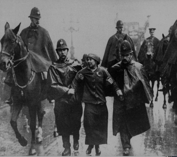 So far my heroes & villlains are all male but here is Sylvia Pankhurst (1882-1960). A rebel within a family of rebels, she was more radical than her mother Emmeline or sister Christabel. I love her shining egalitarian spirit as suffragette, feminist, socialist, pacifist, antifascist & anti-imperialist. Campaigning against Italy's invasion of Abyssinia she was befriended by Haile Selassie, & died in Ethiopia. A sombre, beautiful photo from the high years of the suffragette protest.
