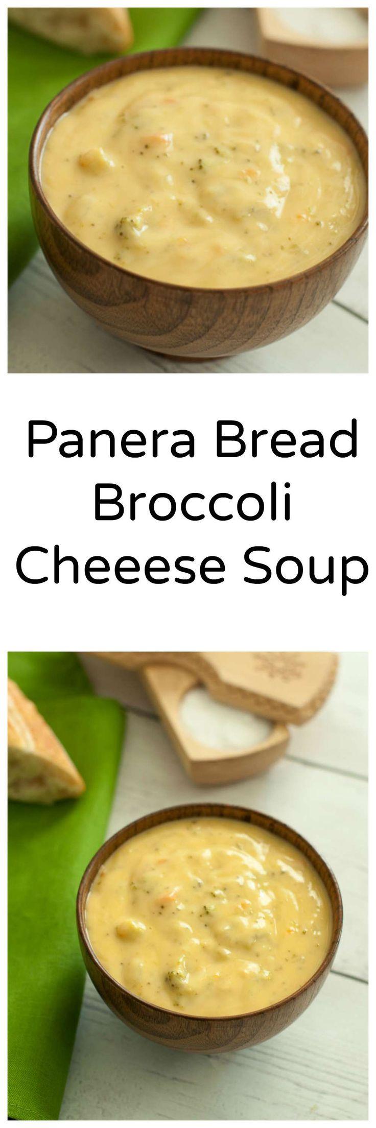 Enjoy this copycat recipe for Panera Bread's Broccoli Cheese Soup.