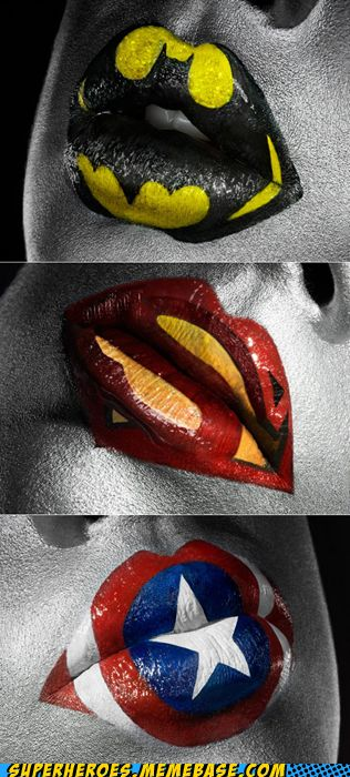 superheroes batman superman - Super Lips