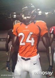 NEW YORK — Champ Bailey was in New York Tuesday to help unveil Nike's new Broncos uniform. Bailey was the...