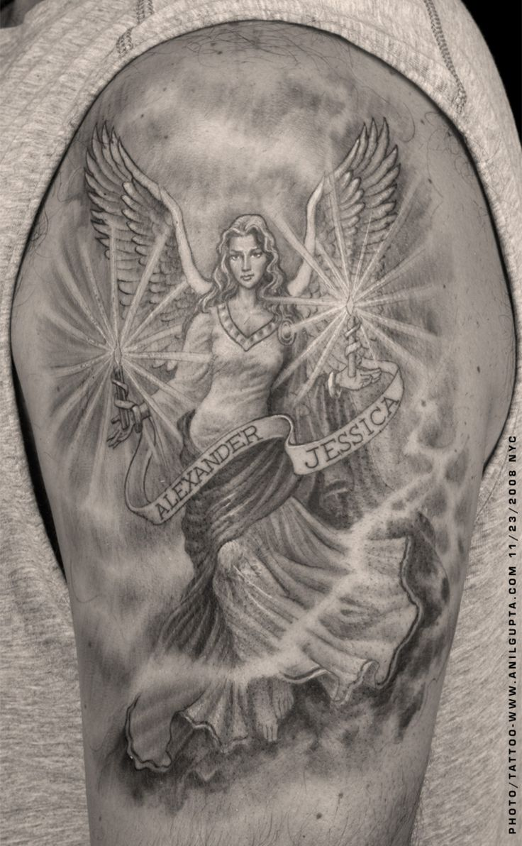 Images For > Male Guardian Angel Tattoos For Women
