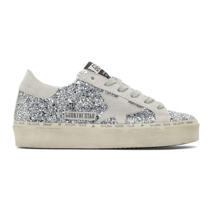 Golden Goose Sneakers Hi Star Silver