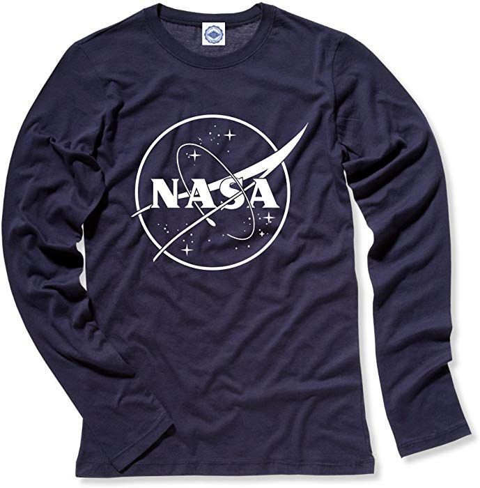 d19c46710 Amazon.com: Hank Player U.S.A. NASA 1 Color Logo Women's Long Sleeve T-Shirt  (M, Vintage Navy): Clothing