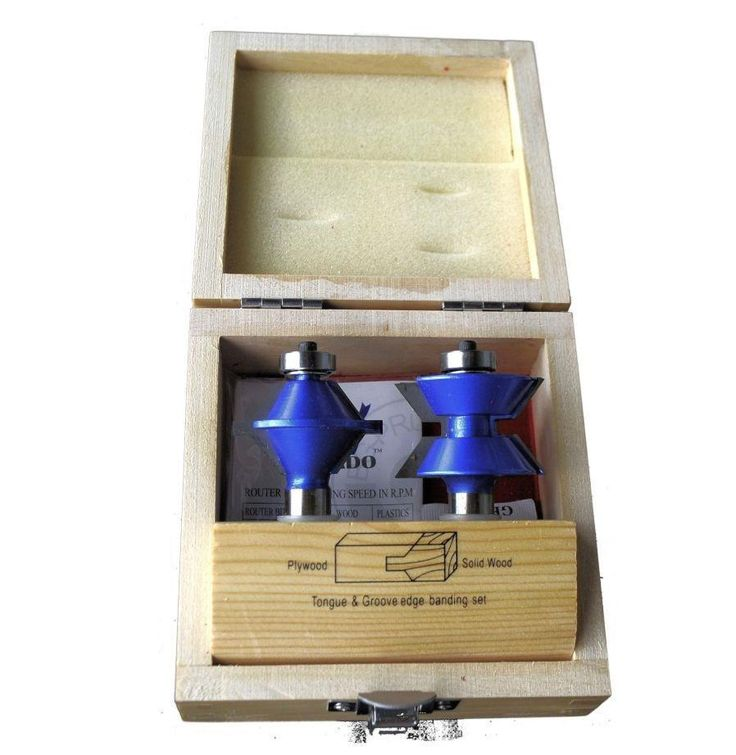 V-Tongue and Groove Edge Banding Router Bit Set