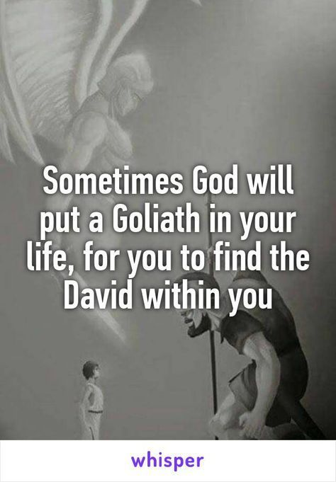 Isnt this the truth! In order to find courage, sometimes God brings giants into the Christian life.