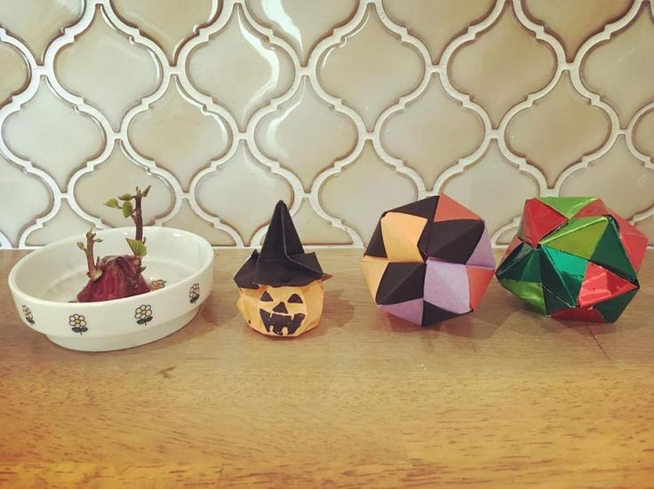 ハート 折り紙:かぼちゃ 折り紙 立体-gr.pinterest.com
