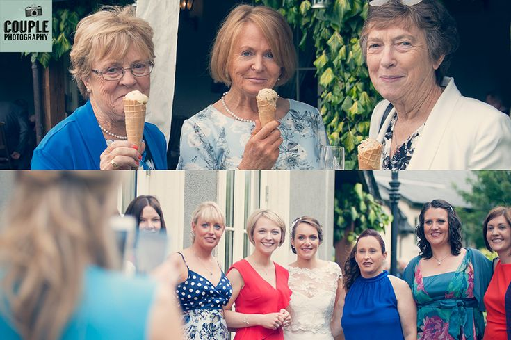 The girls at the wedding. with Ice Cream for the guests. Wedding photography at The Brooklodge Hotel by Couple Photography.