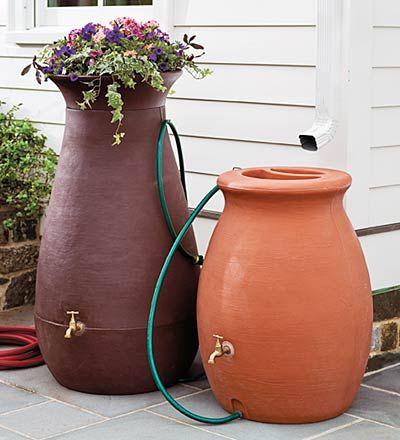 rain barrels they dont have to be ugly - Decorative Rain Barrels