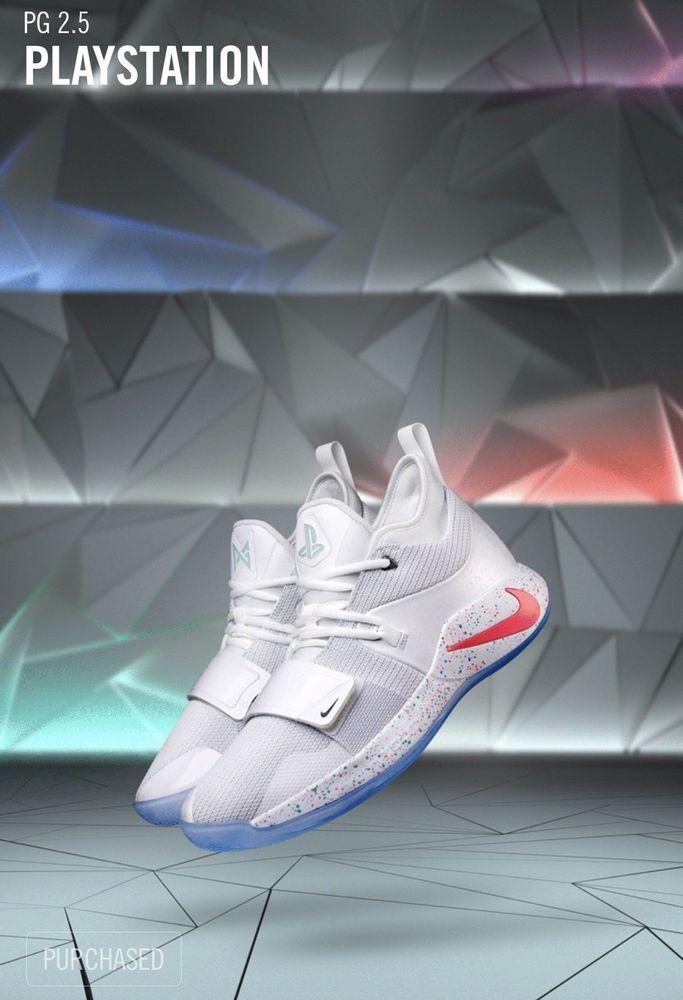 cc0b0f1c6c3b Nike PG 2.5 PlayStation White Size 11 DS BQ8388-100 W Receipt