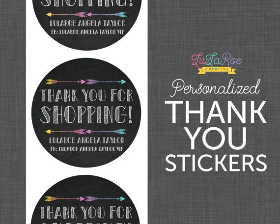 LulaRoe Thank You Stickers  Chalkboard Circle by LuLaRoeCreative