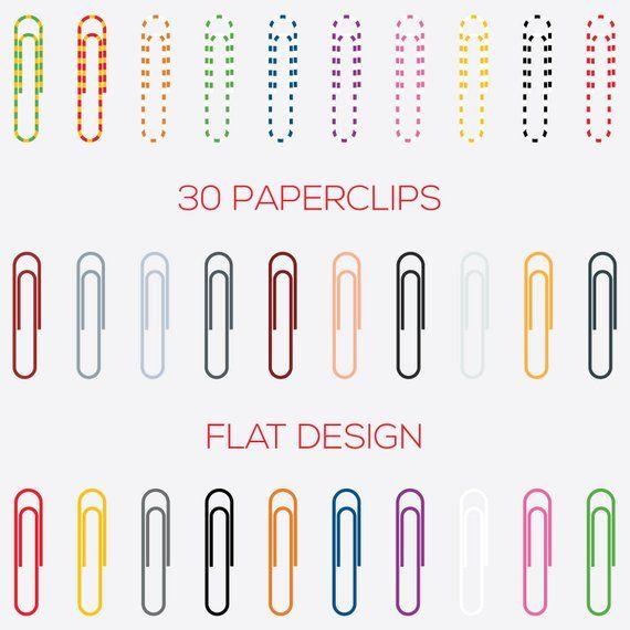 Paperclips Digital Clip Art Digital File Paper Clip Etsy Digital Clip Art Paper Clip Clip Art