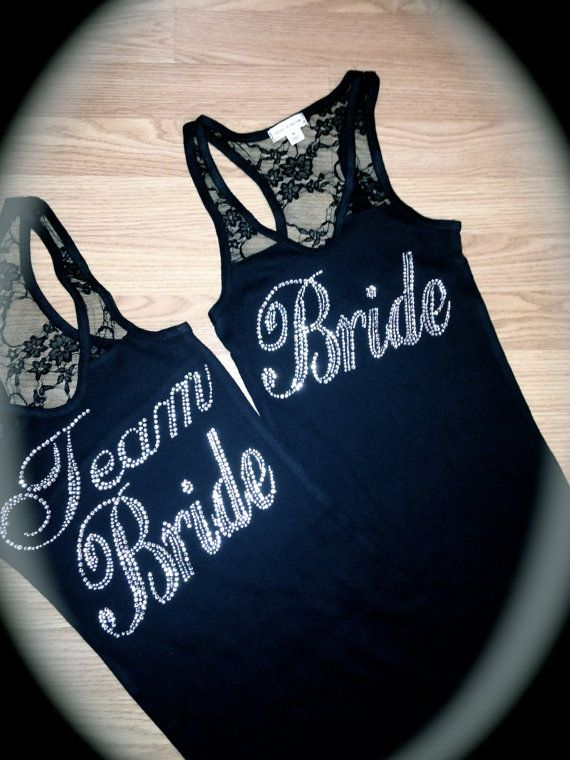 I Bride Lace Tank Top. Bridal Party. Bachelorette. Team Bride, Royal Blue, Navy Blue, Small, Medium, LArge. wedding Half Lace Tank Top. on Etsy, $15.95