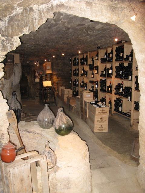 Chateauneuf du Pape wine cave.