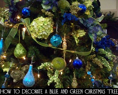 You could use traditional red and green colors to decorate your Christmas tree this year, but why not try something different?  Here are the steps for how to decorate a blue and green Christmas tree.