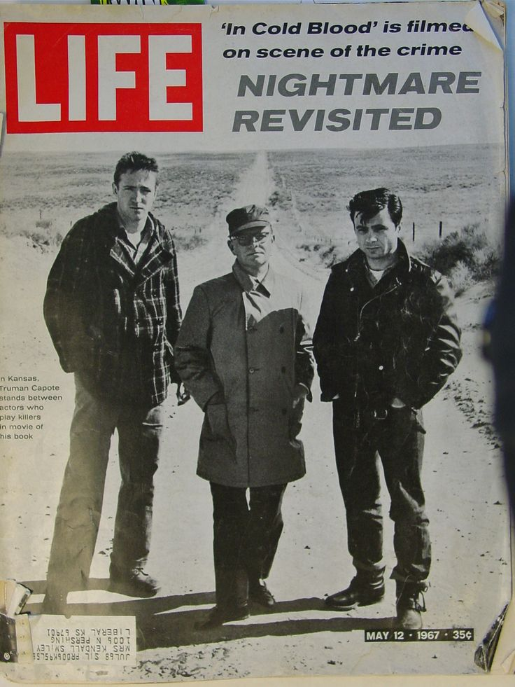 Cover of LIFE magazine from 1967. On the front: Truman Capote anchored by actors Robert Blake and Scott Wilson.
