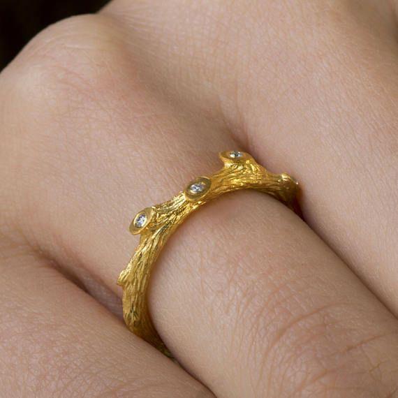 Sterling Silver δαχτυλίδι κλαδί, Βοτανικός κοσμήματα, ασήμι 925, Χειροποίητα ασημένια δαχτυλίδι ασημένιο κλάδο, μαύρο ή λευκό κυβικά ζιρκονία