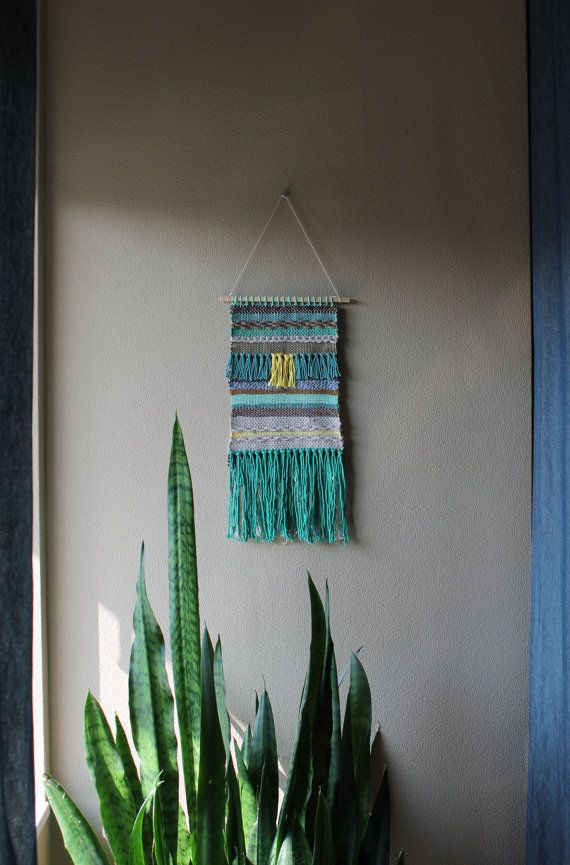 Woven Wall Hanging 2 by nimwitstudio on Etsy, €47.79