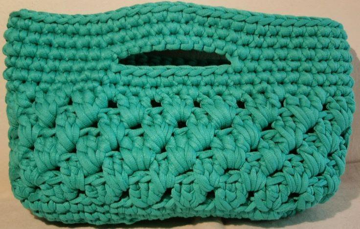 Vive, Crea, Scrapea: Bolso de trapillo Azul turquesa