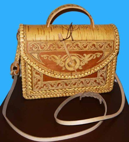 Russian Art Birch Bark Women Handbag / Purse * Classics * #03 $164.0