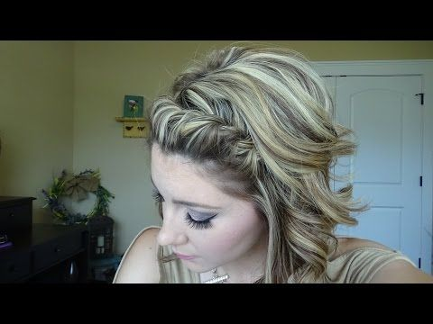 EASY 2 strand braid that ANYONE can do! - YouTube