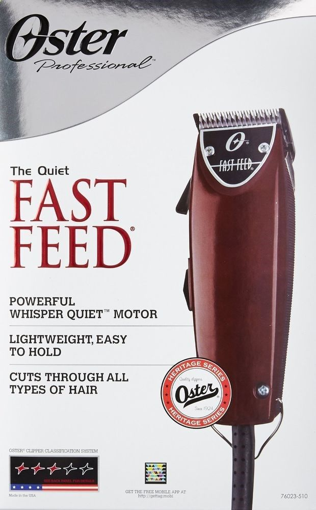 Quiet Hair Clippers Fast Feed Adjustable Pivot Motor Barber Clipper Oster Men #Oster