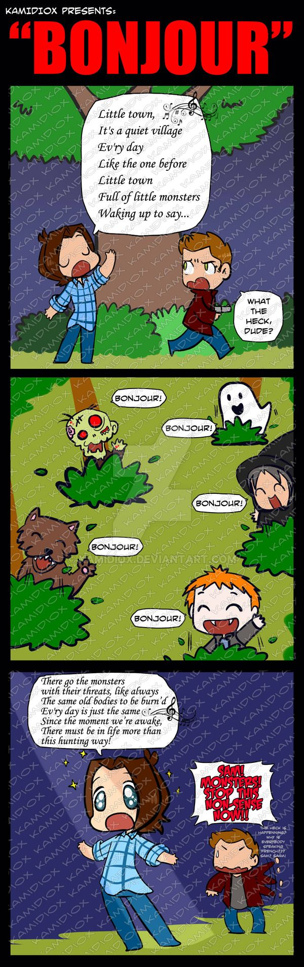 Bonjour by KamiDiox --- this is bloody fantastic.