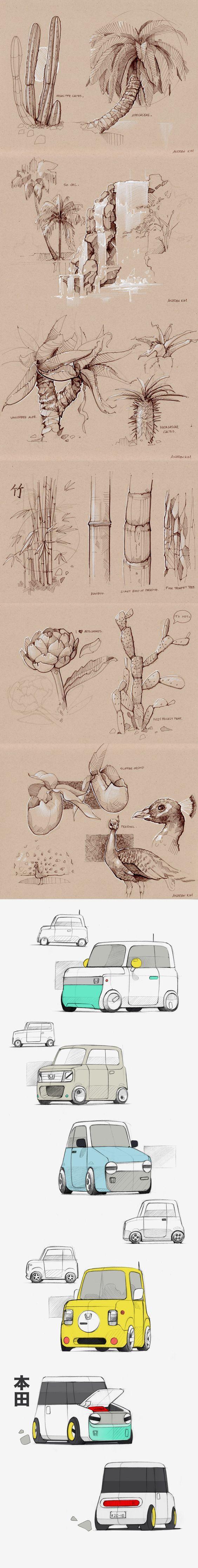 Andrew Kim's sketches