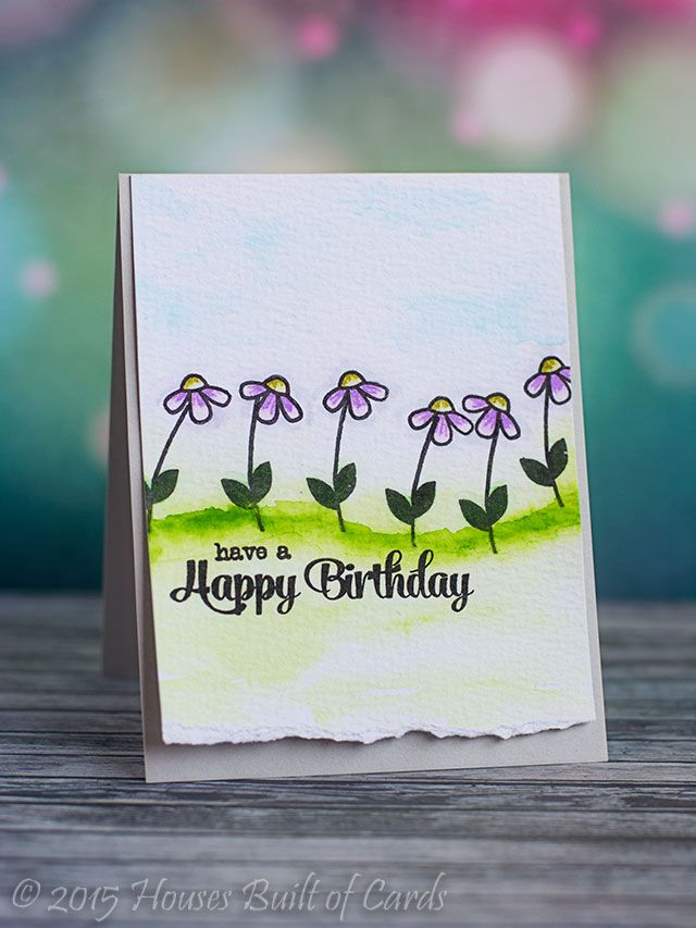 Houses Built of Cards: PS SPARKS - Happy Birthday Flowers