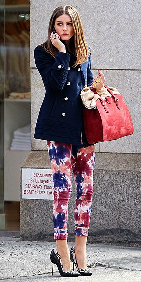 colorful tie-dyed skinnies (Olivia Palermo)
