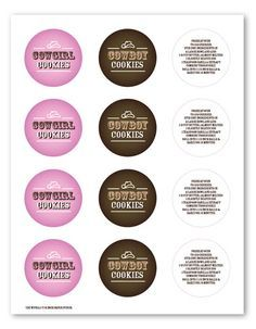 Cowgirl cookie recipe and printable labels to use if giving cookies as gift